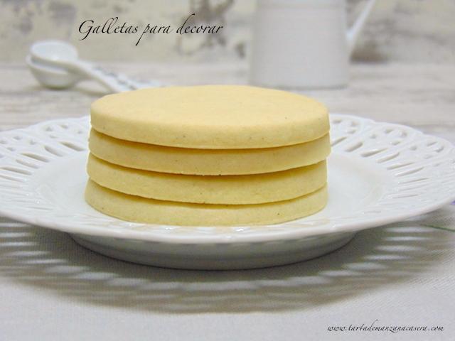 Galletas De Mantequilla Para Decorar Con Glasa Tarta De
