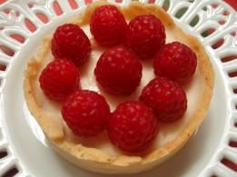 Tartaleta de Mascarpone con frambuesas