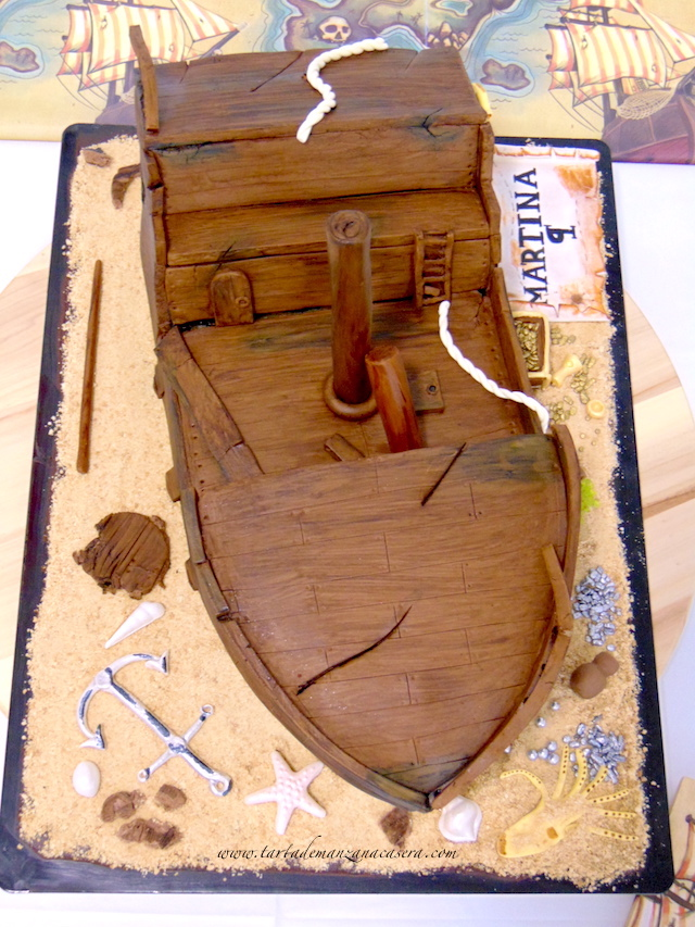 Tarta Barco Pirata | Tarta de manzana