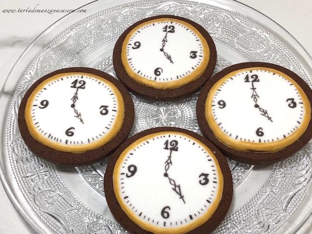 Galletas Decoradas Reloj Tarta De Manzana
