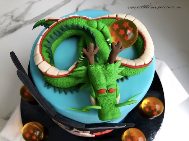 Goku Fondant Cake Tarta De Manzana